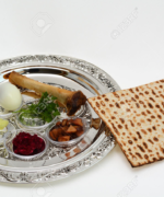 47548768-Matzo-bread-next-to-Passover-Seder-Plate-with-The-seventh-symbolic-item-used-during-the-seder-meal-o-Stock-Photo